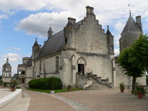 Le Logis Royal, Loches ( France ). Built by Charles VII of France. It was here on 11 May 1429 that Joan of Arc arrived, fresh from her historic victory at Stock Photography