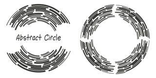 Le logo abstrait de fond entoure avec des lignes, formes géométriques Photo stock