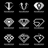 Le logo argenté de diamant se connectent la scénographie noire d'illustration de vecteur de fond illustration libre de droits