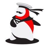 Le logo courageux de marin Illustration Stock