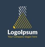 Le logo de calibre a ombragé la silhouette d'un flacon chimique Photographie stock libre de droits