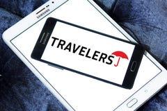 Le logo de compagnies de voyageurs photographie stock libre de droits