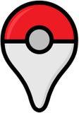 Le logo de couleur de Pokemon vont - basé sur emplacement de gratuit-à-jeu augmenté illustration libre de droits