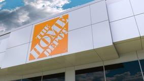 Le logo de Home Depot sur la façade moderne de bâtiment Rendu 3D éditorial illustration de vecteur