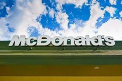 Le logo de McDonald Images stock