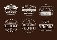 Le logo de restaurant badges dans la collection de vecteur de style de vintage illustration de vecteur