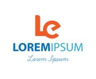 LE Logo Design Στοκ Εικόνα