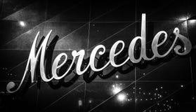 Le logo du début du 20ème siècle de Mercedes photo libre de droits