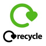 le logo réutilisent Photographie stock
