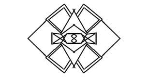 Le logo raye lisse Images libres de droits