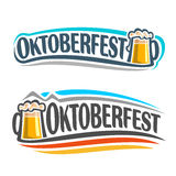 Le logo sur le thème d'Oktoberfest Photographie stock