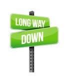 Le long chemin chante vers le bas Photo libre de droits