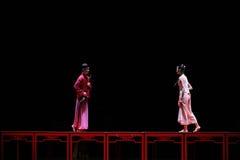 Le long d'amour de route-Le acte d'abord des événements de drame-Shawan de danse du passé Images stock