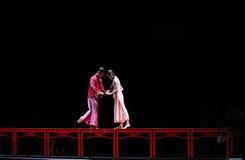 Le long d'amour de route-Le acte d'abord des événements de drame-Shawan de danse du passé Photos stock