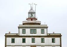 le long de l'Espagnol atlantique d'océan de phare Photographie stock libre de droits