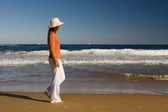 Le long de la plage Images libres de droits