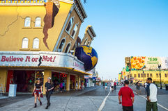 Le long de la promenade Atlantic City Image stock