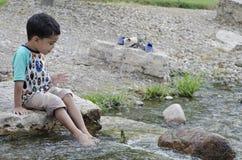 Le long de la rivière 5 Photos libres de droits