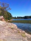 Le long de la rivière de StLawrence dans le Canada Images libres de droits