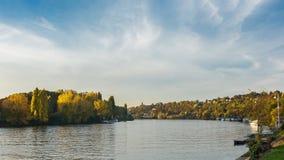 Le long de la Seine au sur la Seine de Frette de La Photos stock