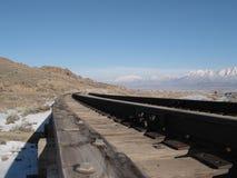 Le long des rails Photo stock