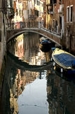 Le long des rues de Venise Images libres de droits