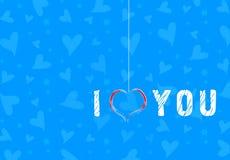 le long du fond la couleur a circulé des coeurs rament sans joint le valentine Images libres de droits