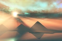 le long du Nil Image stock