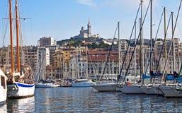 Le long du quai, Marseille Photographie stock