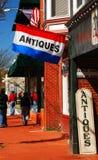 Le long du secteur principal d'achats de Fredericksburg la Virginie Image stock