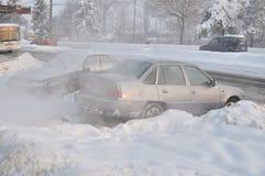 Le long hiver continuent en Europe Image libre de droits