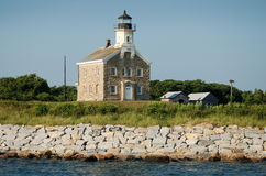 Le Long Island, NY : Phare d'île de plomb Photos stock