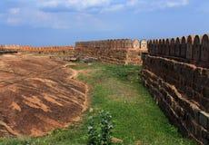 Le long mur du fort Images stock