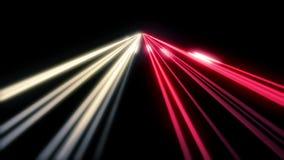 Le long trafic de route de nuit d'exposition HD 1080 boucle banque de vidéos