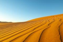 Le long vent a formé des ondulations avec les bords définis par ombre en dunes de H Photo libre de droits