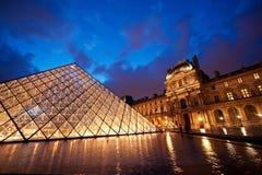 Le Louvre, museo de París Foto de archivo libre de regalías