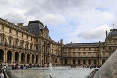 Le louvre museum in paris,france Stock Photography