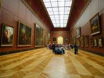 Le louvre museum in paris,france stock image