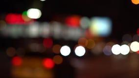 Le luci astratte hanno offuscato il fondo variopinto del bokeh dei cerchi video d archivio