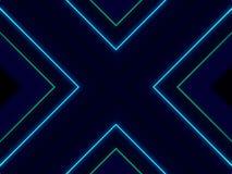 Le luci astratte trasversali ballano il fondo, tema blu illustrazione vettoriale