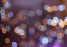 Le luci colorate, l'illuminazione delle luci colorate, bokeh variopinto, l'ardore porpora si accende Immagine Stock Libera da Diritti