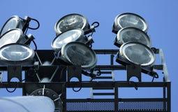 Le luci dello stadio sono alta luminosità Fotografia Stock Libera da Diritti