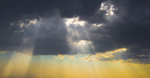 Le luci di un sole Fotografia Stock