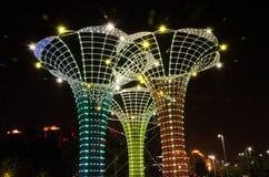 Le luci gradiscono la forma del vaso Immagini Stock