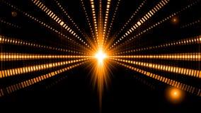 Le luci intermittenti di musica della prestazione delle onde sonore si imbarcano sul fondo del ciclo della stella illustrazione di stock