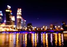 Le luci notturne della città hanno offuscato il bokeh Fotografia Stock Libera da Diritti