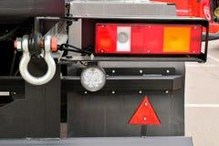 Le luci posteriori del camion immagine stock
