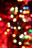Le luci variopinte sono nell'oscurità Fotografie Stock