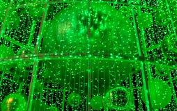 Le luci verde decorano Immagini Stock Libere da Diritti