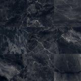 Le luxe du marbre noir couvre de tuiles la texture et le fond Photographie stock libre de droits